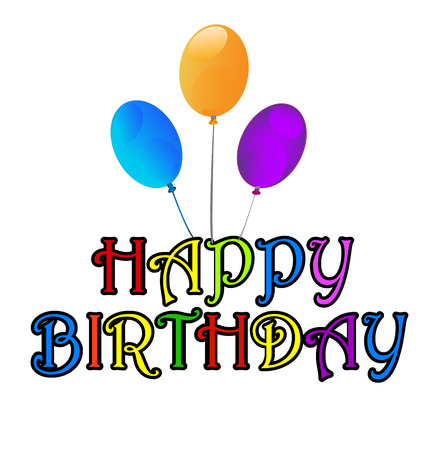 Happy Birthday greetings card Vector