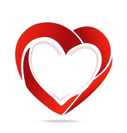 Swoosh corazón símbolo del amor Foto de archivo - 25327137