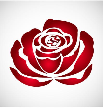 rosas rojas: silueta Rosa