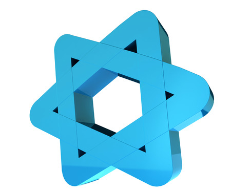 Blue 3d star holiday illustration