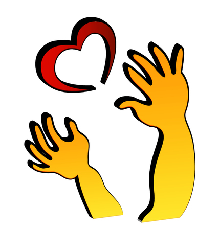 hopeful: Hands love icon vector Illustration