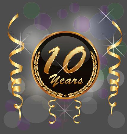 10 years anniversary vector background Vector