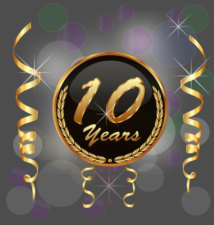 10 years anniversary vector background