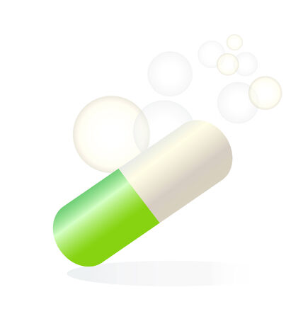Green pill relief medical icon  Vector