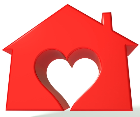 House heart 3D image photo