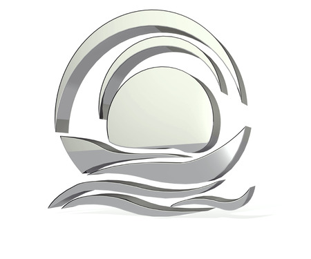Silver Boat icon 3D image photo