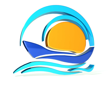 icon 3d: Boat icon 3D image