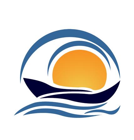 Yacht boat icon vector Vector