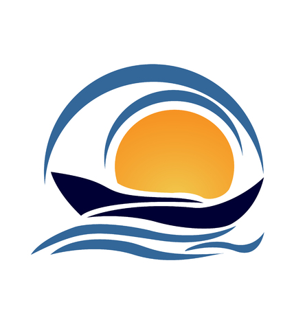 Yacht boat icon vector