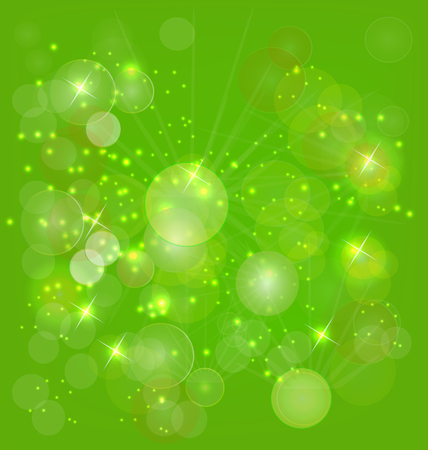 Sparkle green background vector Vector