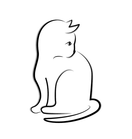 Cat icon vector Vector