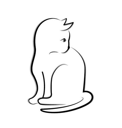 Cat icon vector Vector