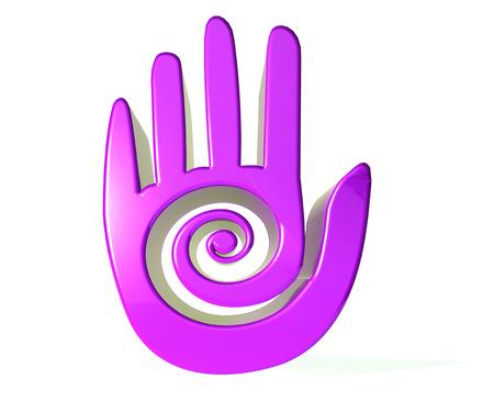 Purple hand scroll 3D image