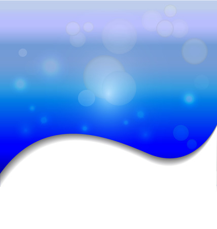 Spark bubbles blue vector background Vector