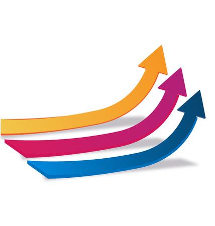 Statistics arrows vector Vector