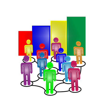 teamwork icon: Flow chart business teamwork icon vector Illustration