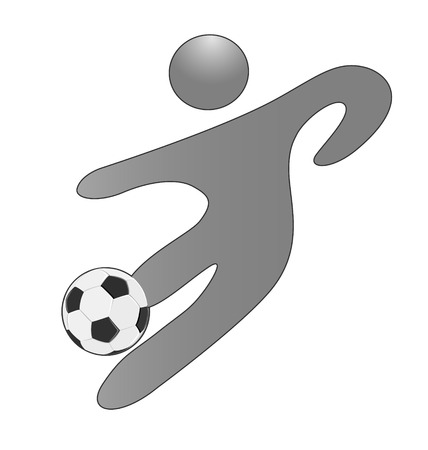 Person with a soccer ball icon vector