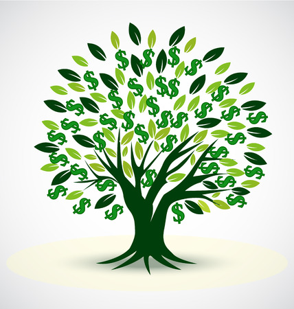 Vector tree symbol of prosperity