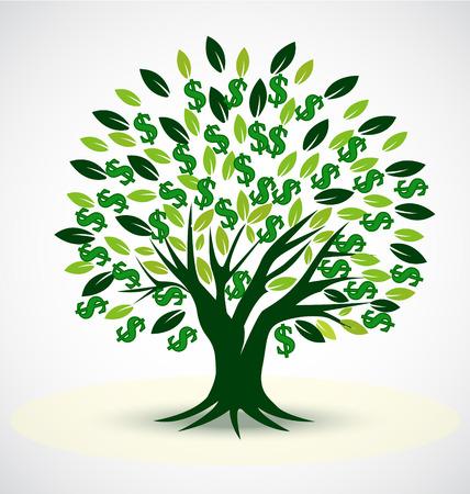 single tree: Vector tree symbol of prosperity