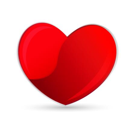 together voluntary: Heart symbol Illustration