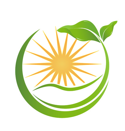 energy healing: Health nature icon for your company