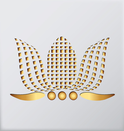 Gold Lotus Vector
