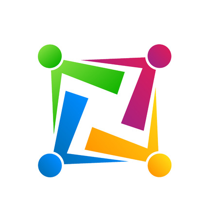 Team connection people business icon