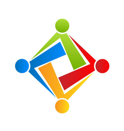 Team connection people icon