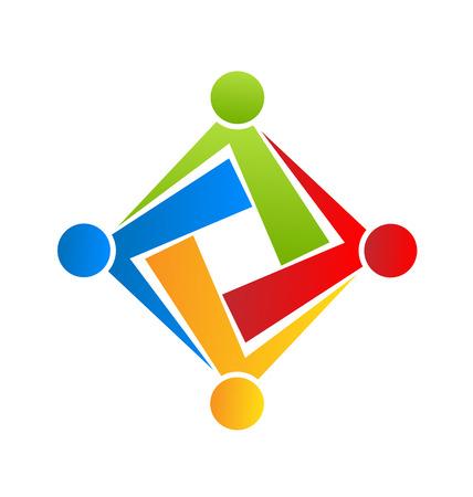 non profit: Team connection people icon