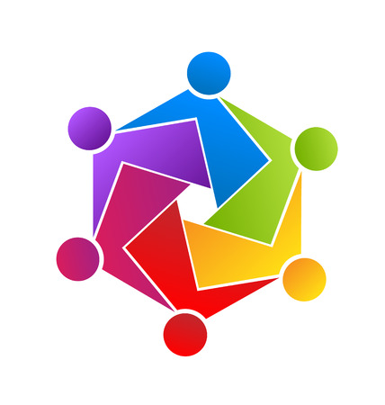 Teamwork unity people icon Vector