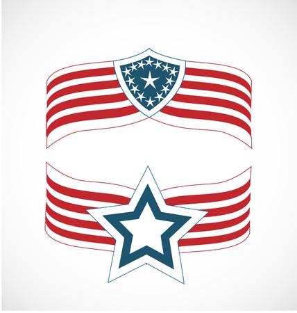 American flags illustration