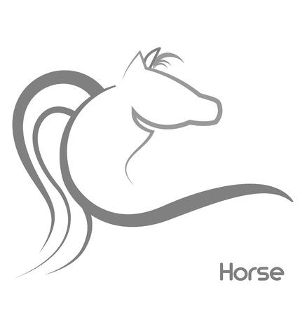 Horse stylized   イラスト・ベクター素材