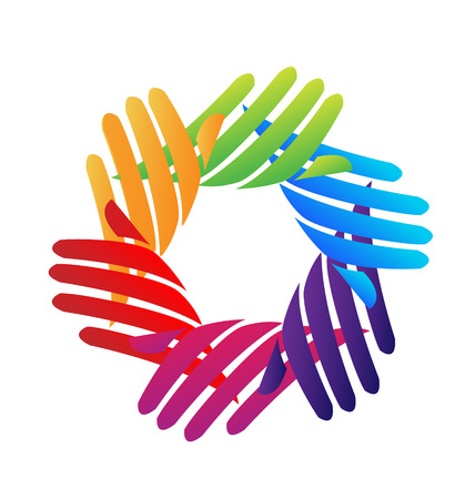 together voluntary: Hands network company icon