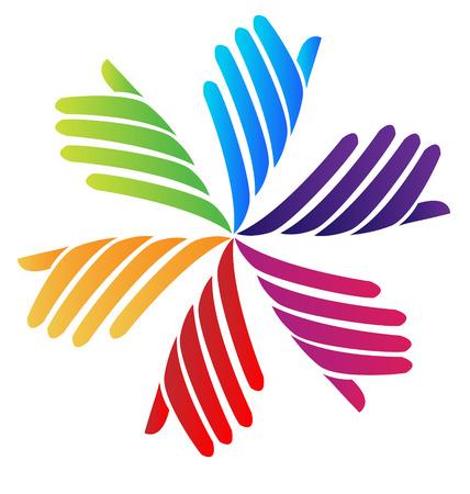 voluntary: Hands voluntary company icon