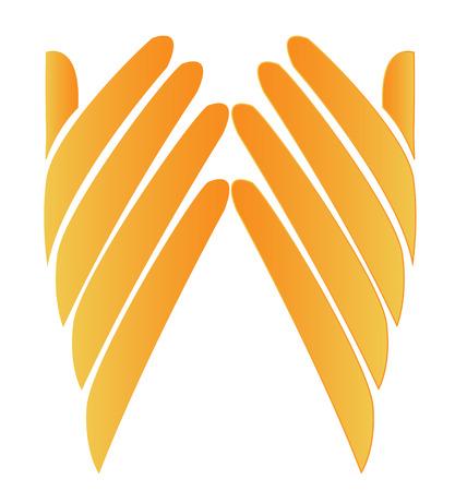 Hopeful hands icon