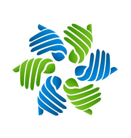 gönüllü: Eller işletme şirketi simgesi