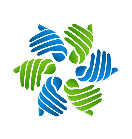 together voluntary: Hands business company icon