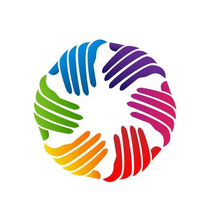 gönüllü: Eller sadaka simge şirket vektör Çizim