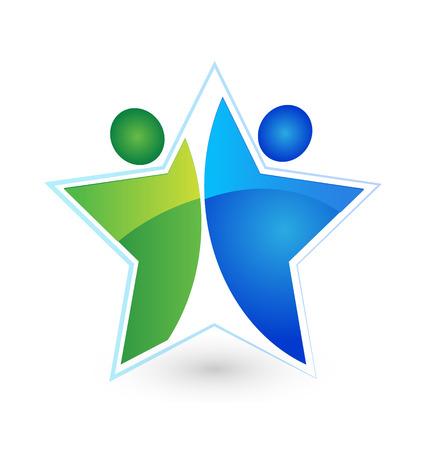 Teamwork star people icon Stock Vector - 26933864