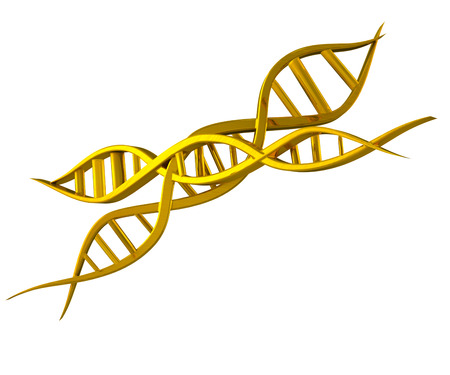 DNA gold icon 3D background photo