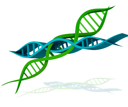DNA green 3d icon picture photo