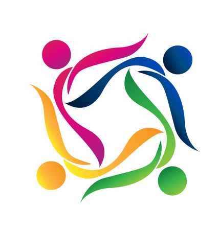 Teamwork people icon vector Illustration