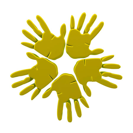 Yellow Hands Icons photo