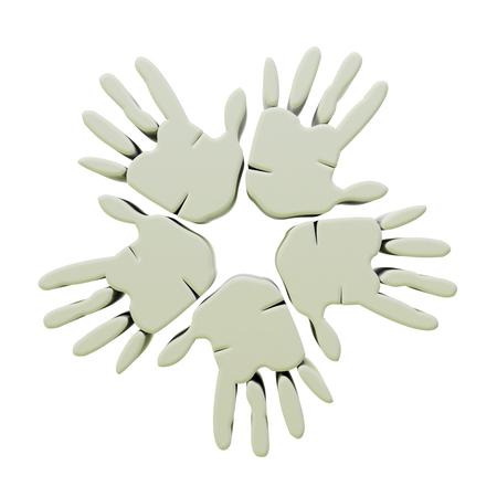 Hands success gray 3D graphic photo