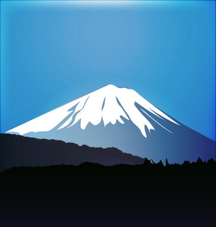 富士山・青木ヶ原の森グラフィック ベクトル
