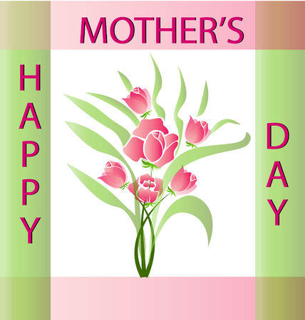 Flowers Happy Mother s Day card vector Vector