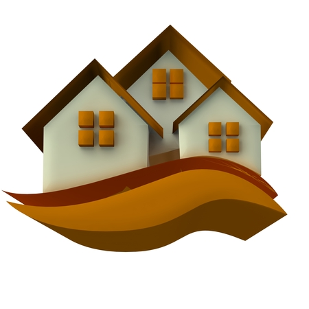 property development: Houses icon 3D image