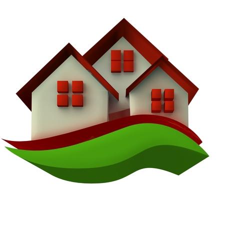 Houses icon 3D image photo