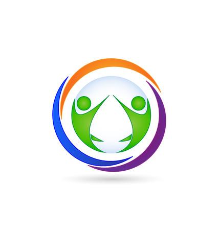 Teamwork icon business card vector Vector