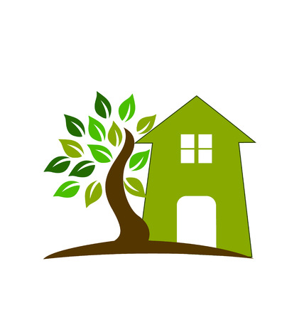Green house tree vector Vector